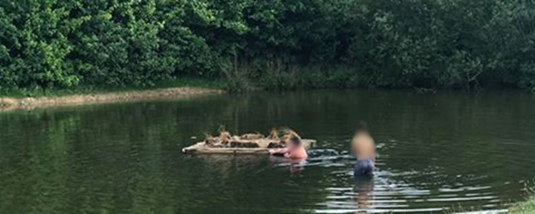 Warning after Nottinghamshire residents spotted swimming in pool