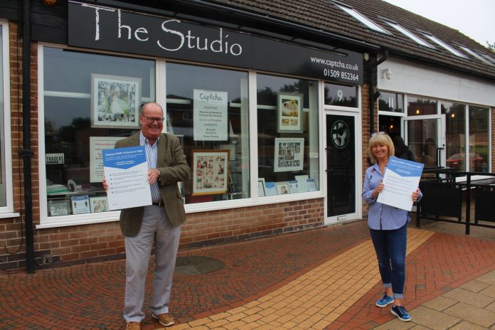 Cllr Andy Edyvean joined Hayley Masom from Captcha to highlight the steps businesses are taking to be COVID secure