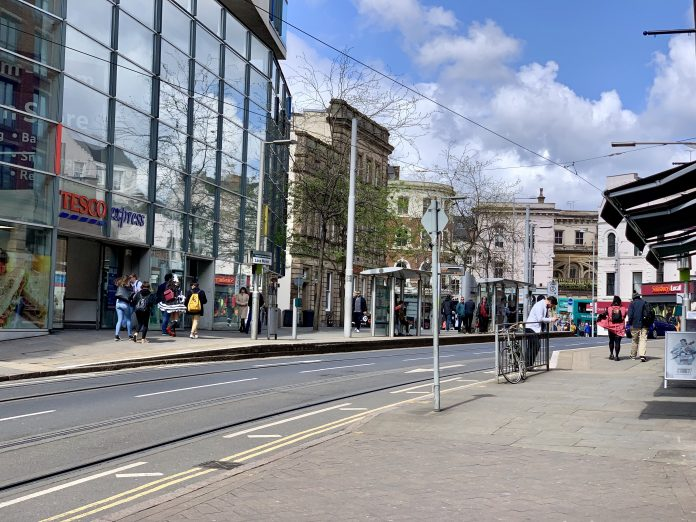 Nottingham tram service