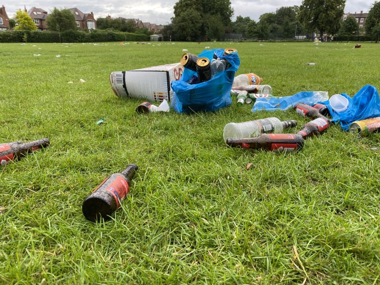 Pictures: Littering in West Bridgford as huge gathering takes place until the early hours