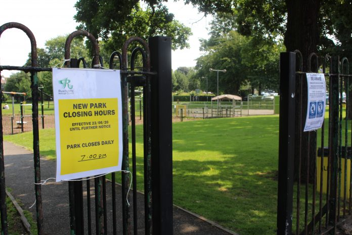 New closing times at Bridgfield and Bridgford Park are among the measures introduced this week