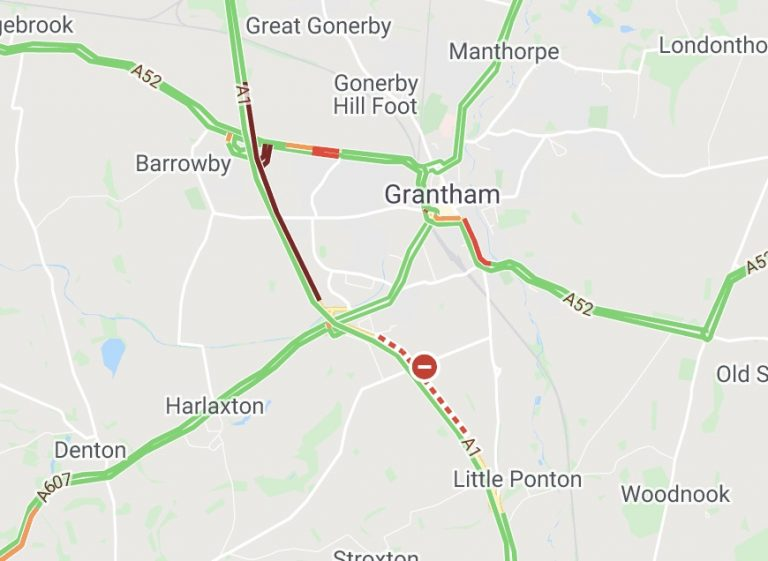 A1 southbound closed – police incident