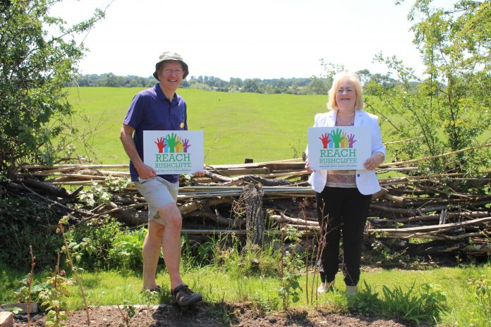 Cllr Debbie Mason met Trevor Griffiths from Rushcliffe Ramblers to hear more about their plans with the Reach Rushcliffe funding