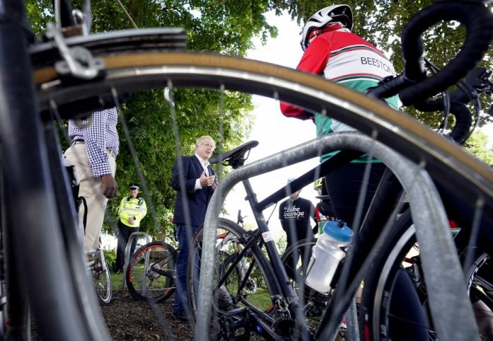 Boris Johnson visits Beeston