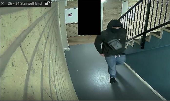 Midgley caught on CCTV before stabbing a man on 14 December 2019