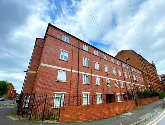 The student accommodation block in Russell Street Radford that has been sold to investors