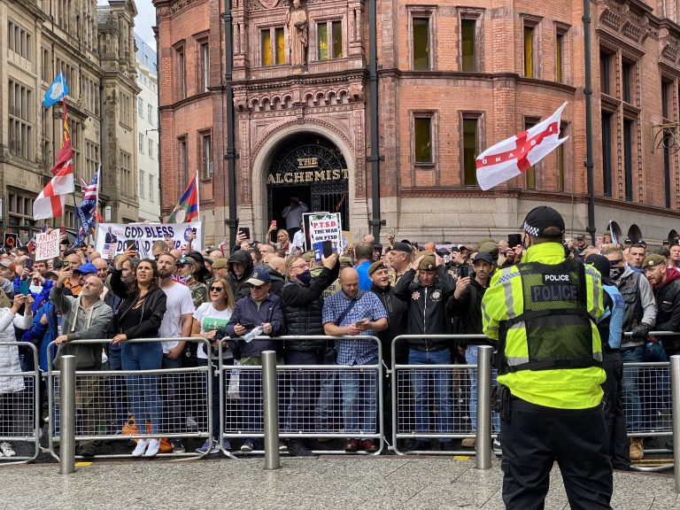 Pictures & Video: Nottingham city centre brought to a standstill by protests