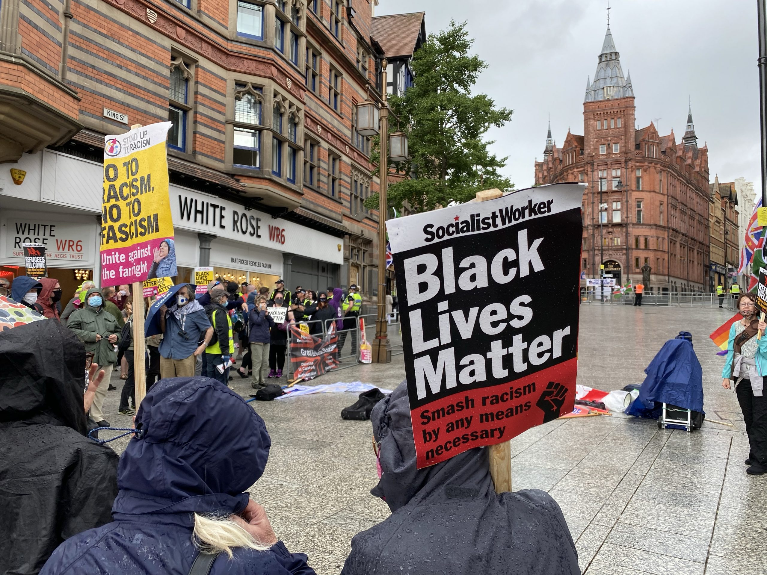 Nottingham city centre brought to a standstill by protests