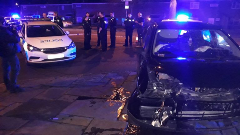 Nottingham: Dramatic video of driver ramming into police car released