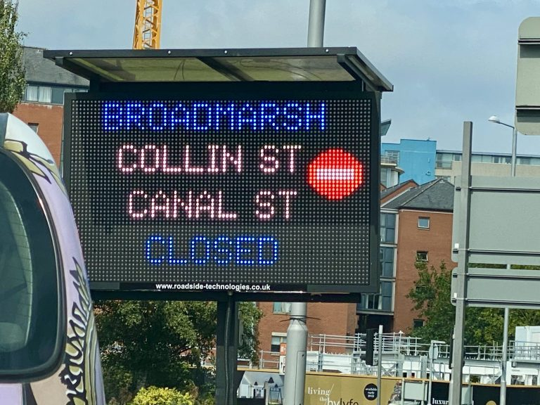 Videos: Changes to Nottingham's Broadmarsh road layout introduced today