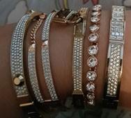 Photograph of 5 bracelets