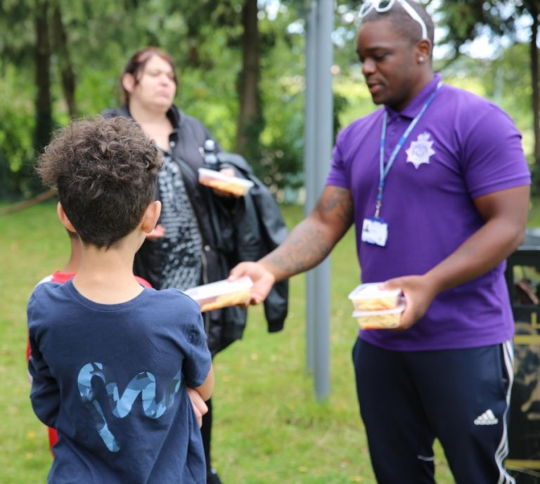 Police roadshows end with hundreds of youngsters taking part and 500 meals dished out