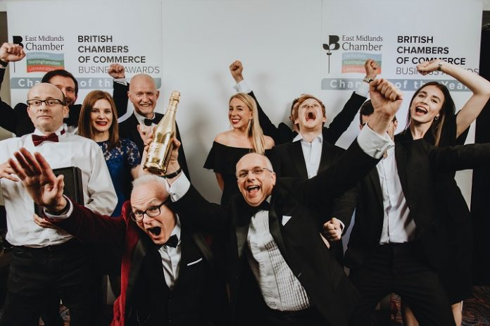 East Midlands Chamber Business Awards 2019 Nottinghamshire Business of the Year Integrated Transport Planning