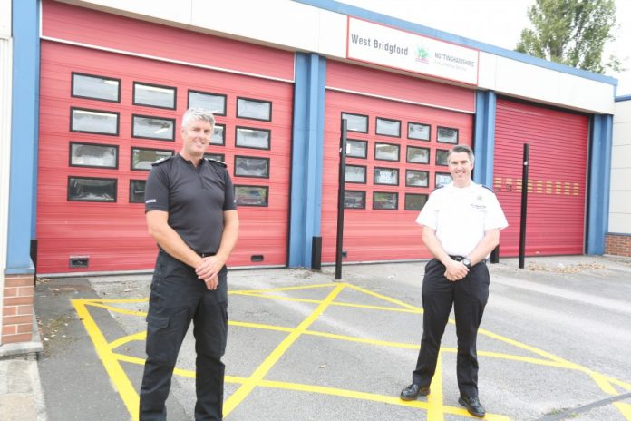 Insp Craig Berry and Station Manager Craig Day