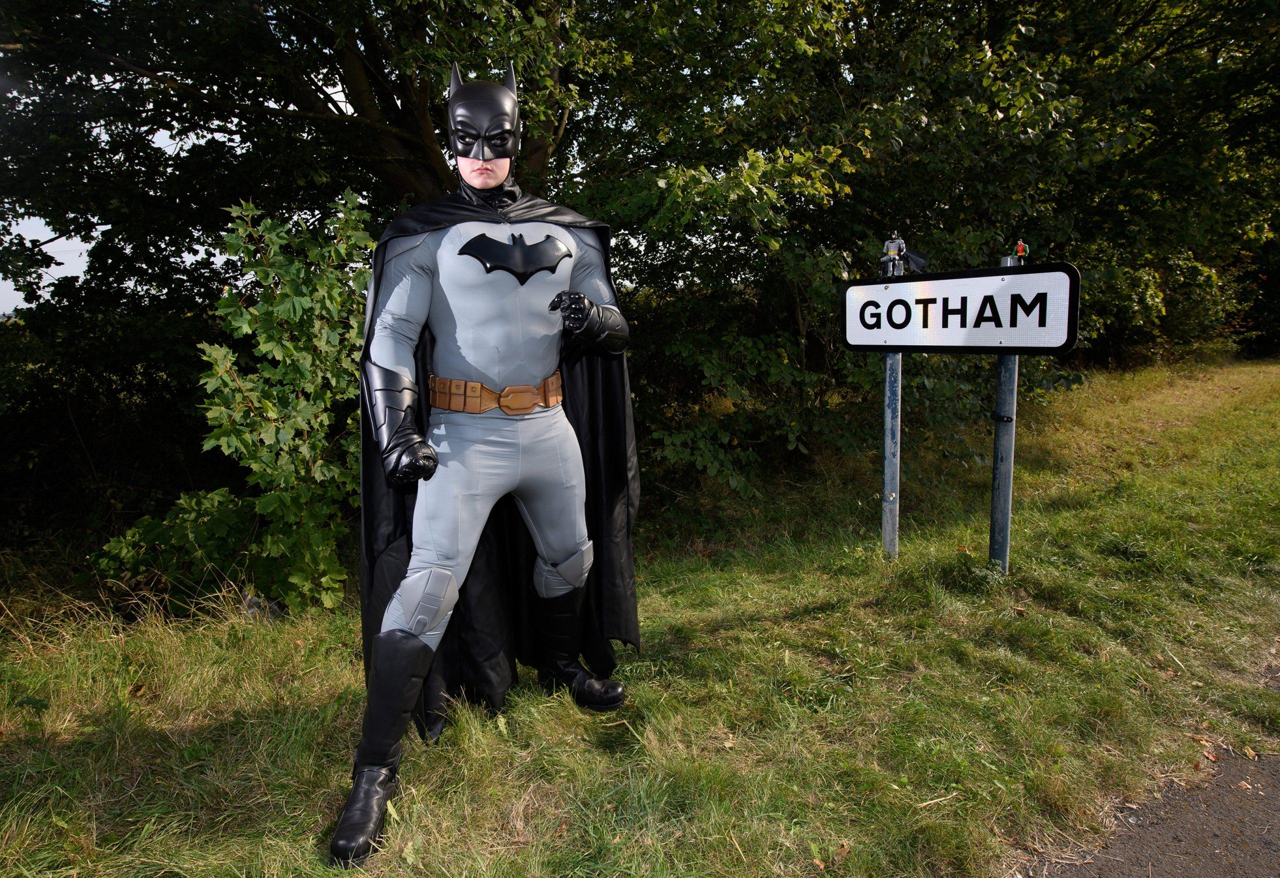 Batman delivers toys to Gotham ahead of Batman Day