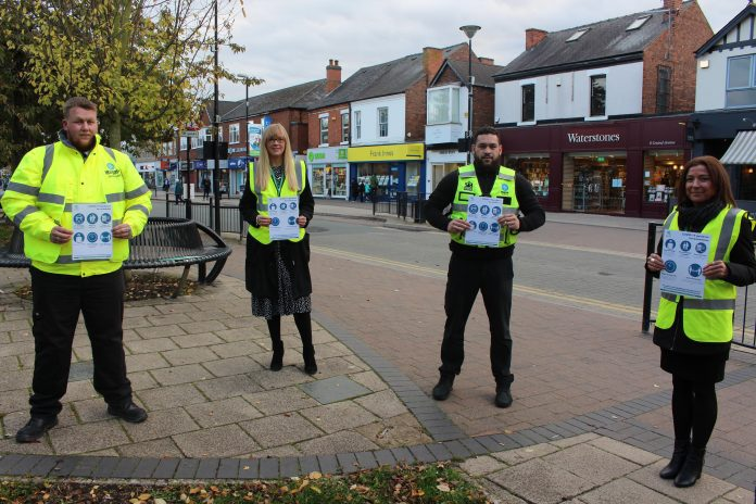 Joe Richardson RBCs Catherine Evans Troy Winfield and RBCs Caroline Saxton are among the ambassadors on Rushcliffes high streets