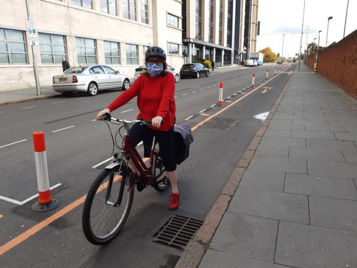 New popup cycle lanes in place across Nottingham city