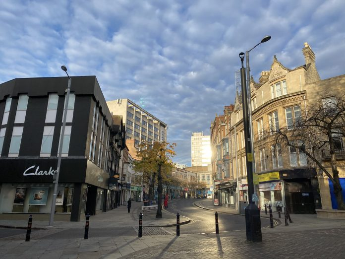 Lockdown: Nottingham City centre