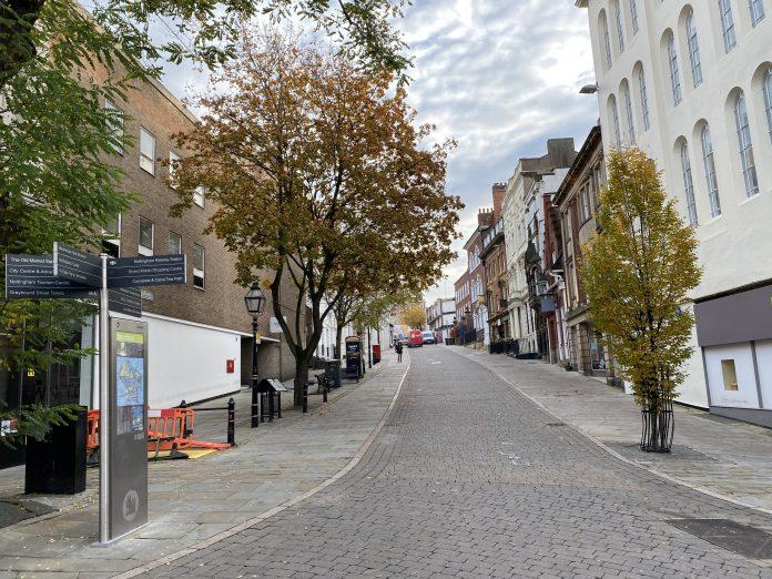 Lockdown: Nottingham City centre