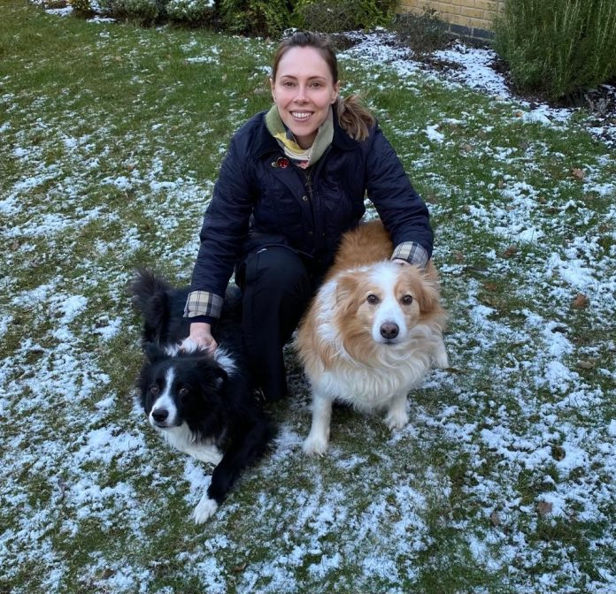 Emma Foody with her dogs.