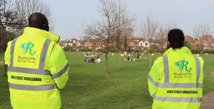 Rushcliffe Borough Council patrols and increased bins are now in place at Bridgfield and Bridgford Park in West Bridgford