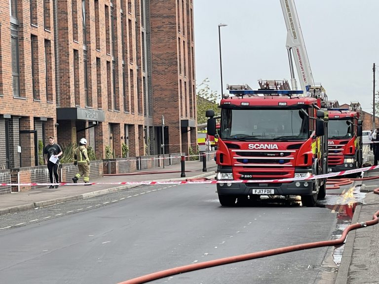 Fire breaks out at Nottingham apartment block