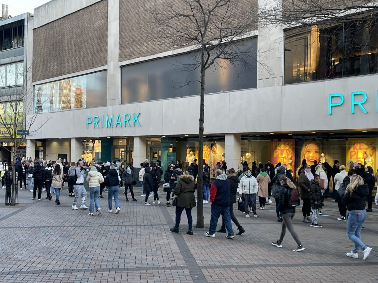 Video & Pictures: Queues at Nottingham's Primark as shops reopen