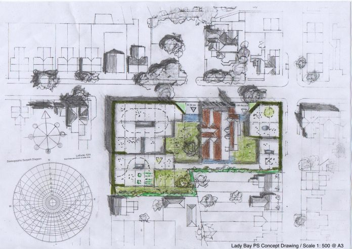 Alan Wrights Lady Bay School concept drawing 1