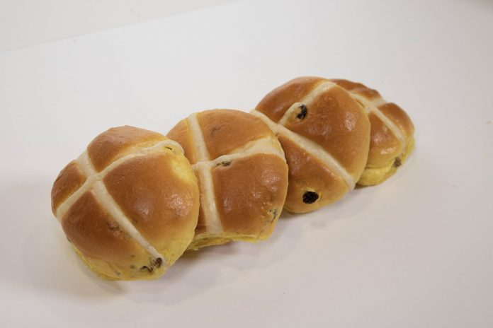Birds Bakery Fruity Hot Cross Buns