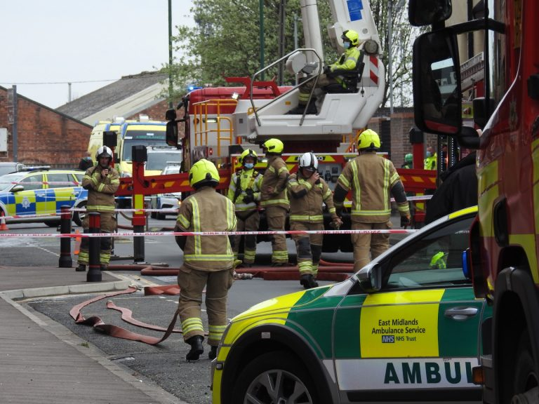 Pictures: Emergency services attend apartment block fire in Nottingham – avoid area