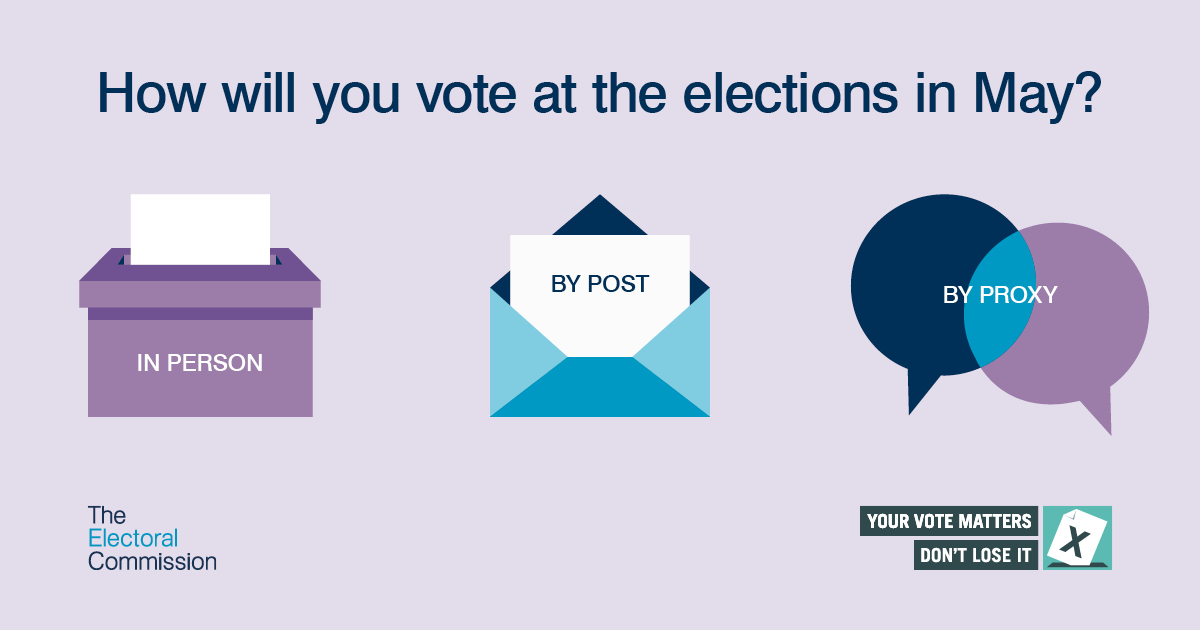 Rushcliffe Borough Council is reminding residents to register to vote or apply for a postal or proxy vote