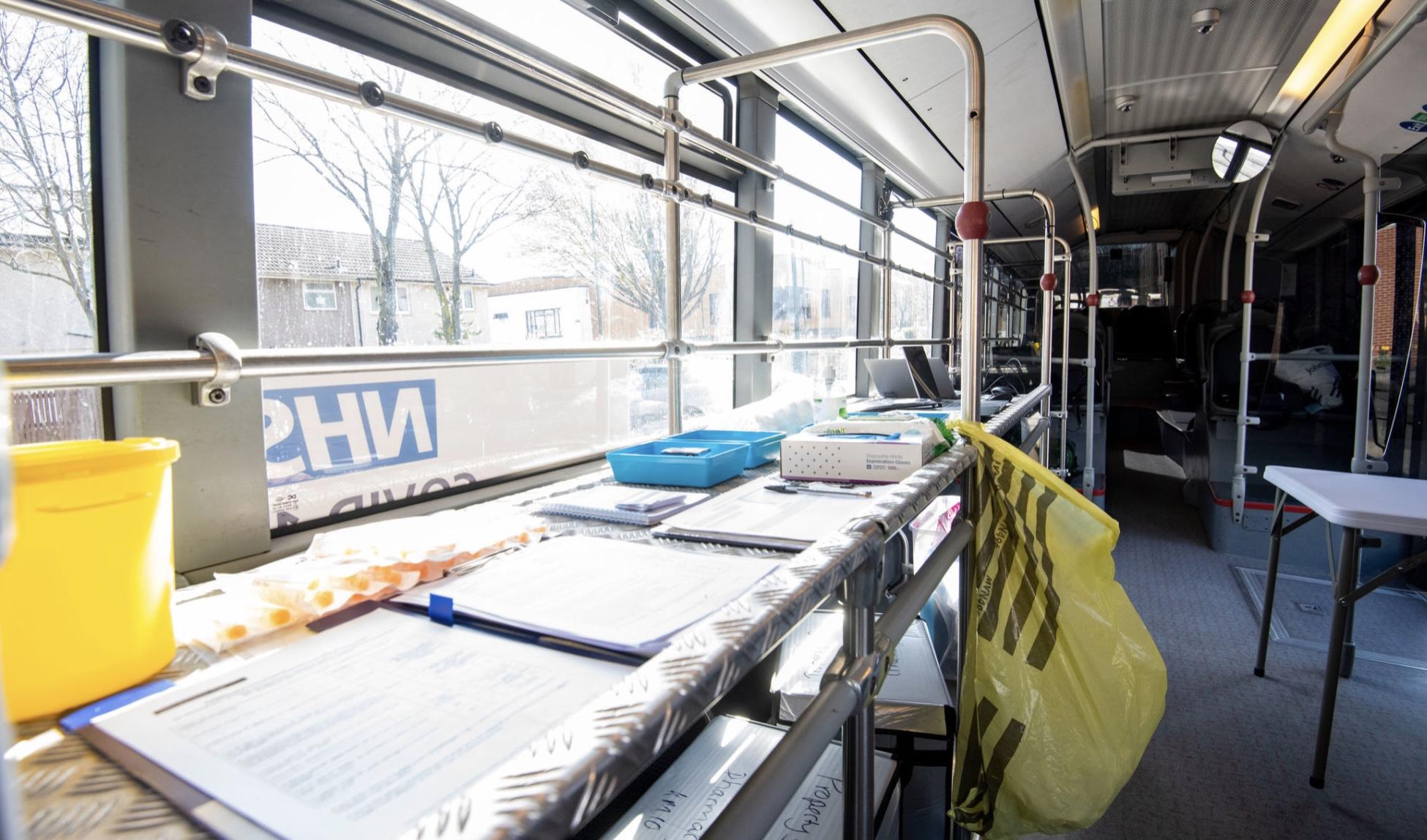 Covid vaccination bus launches in Nottingham - book through Swiftqueue