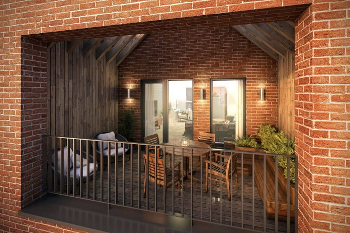 Terraces at the new Trent Basin homes provide stunning views and an outdoor living lifestyle