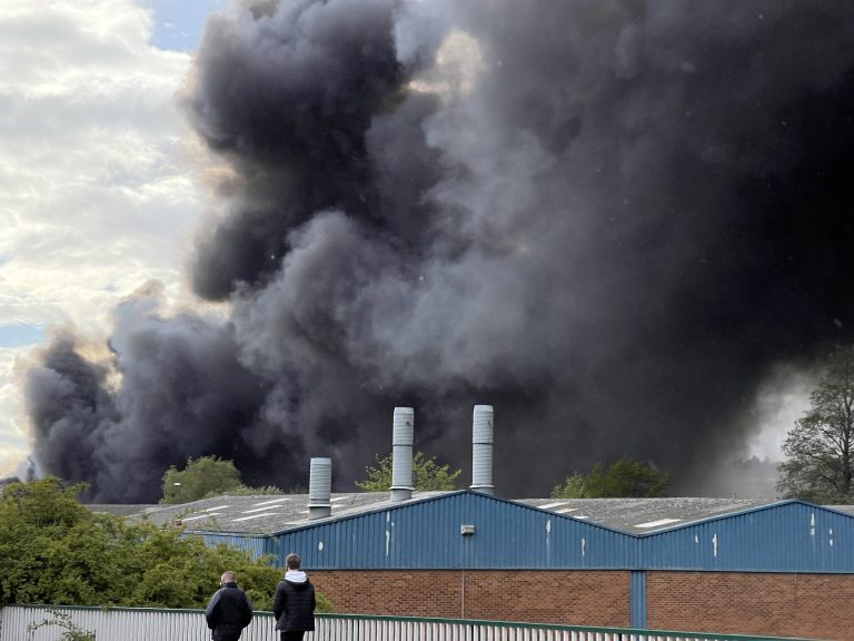 BREAKING: Video from the scene – Huge fire breaks out in Lenton Lane – keep windows and doors closed