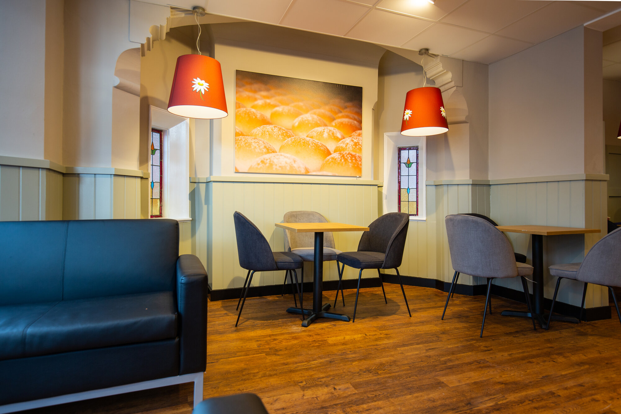Large indoor seating at Melton Road