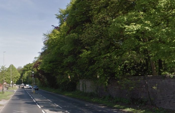 Police were called to Mansfield Road after a car crashed into a wall