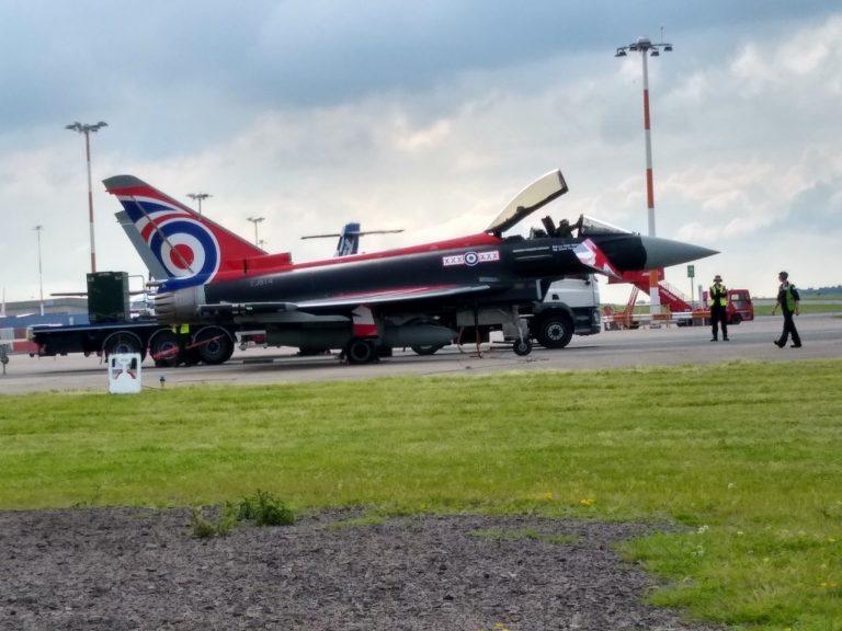 Video: RAF Typhoons at East Midlands Airport
