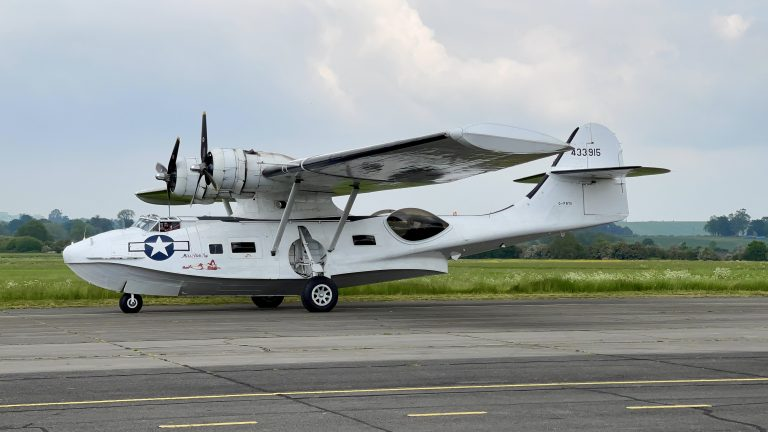 Video and Pictures: PBY Catalina World War 2 Flying Boat spotted at Nottingham City Airport