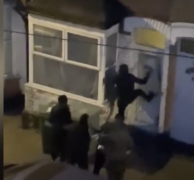 Shocking footage shows gang smashing way into a Nottingham city house to steal drugs and assaulting occupant with weapons