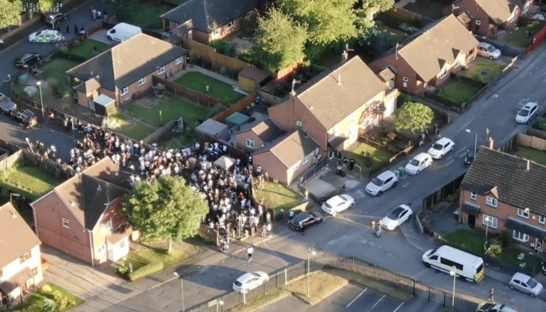 Police release drone footage of Nottingham illegal gathering after man stabbed and police attacked