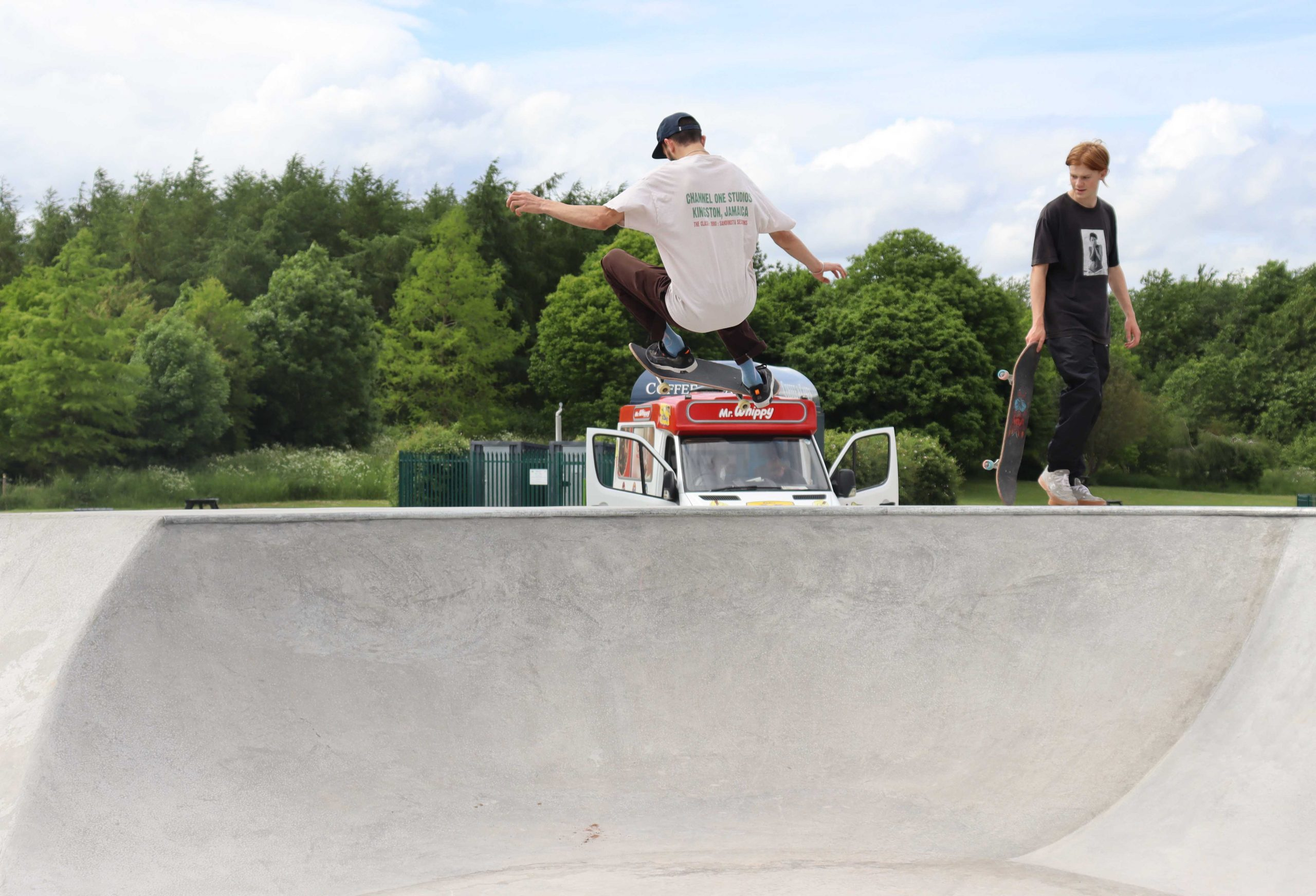 Skaters showed off their skills within minutes of the park opening scaled