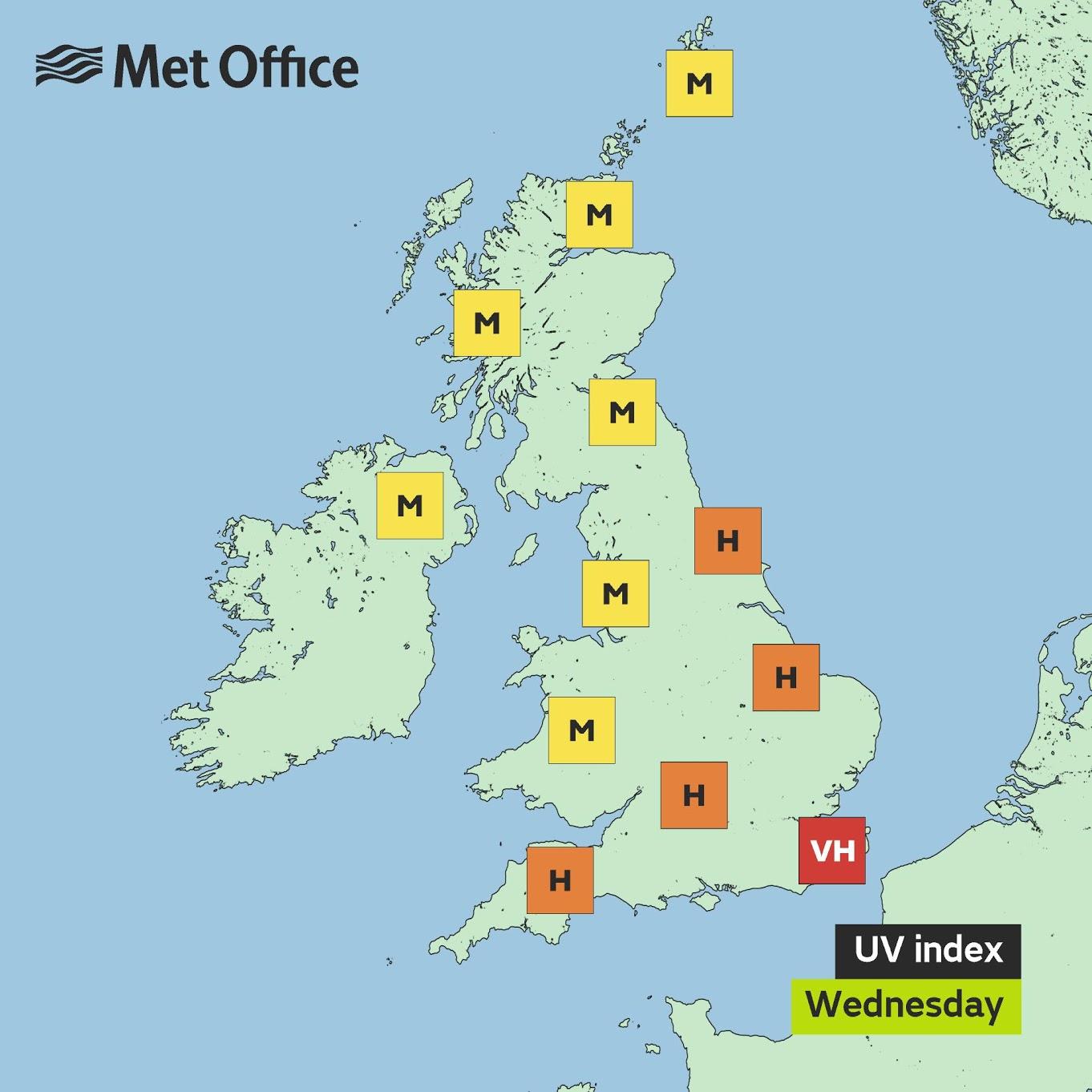 Nottingham weather 8 June