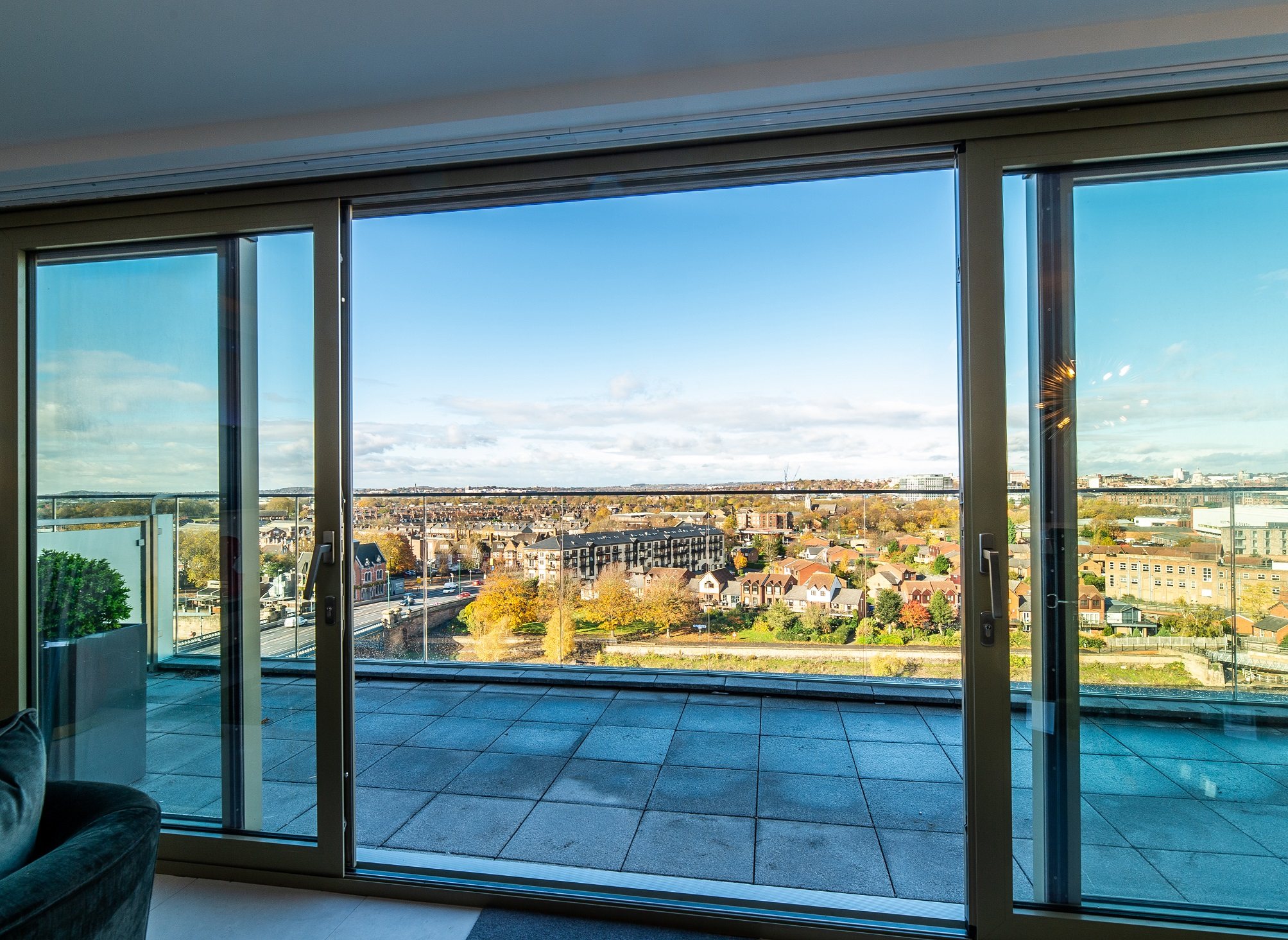 Waterside penthouse day views