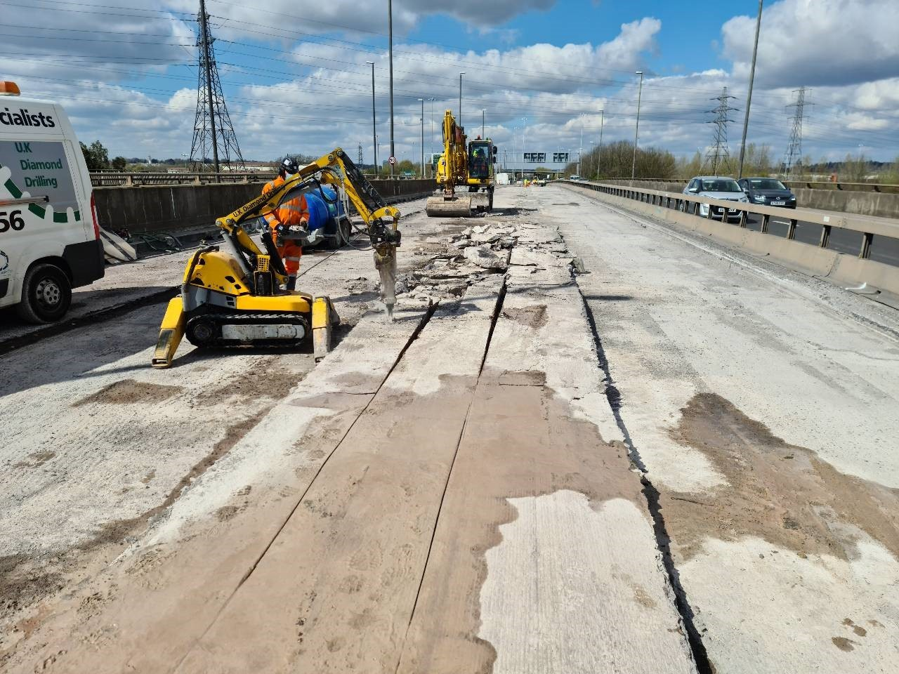 Highways England working on Clifton Bridge in July.
