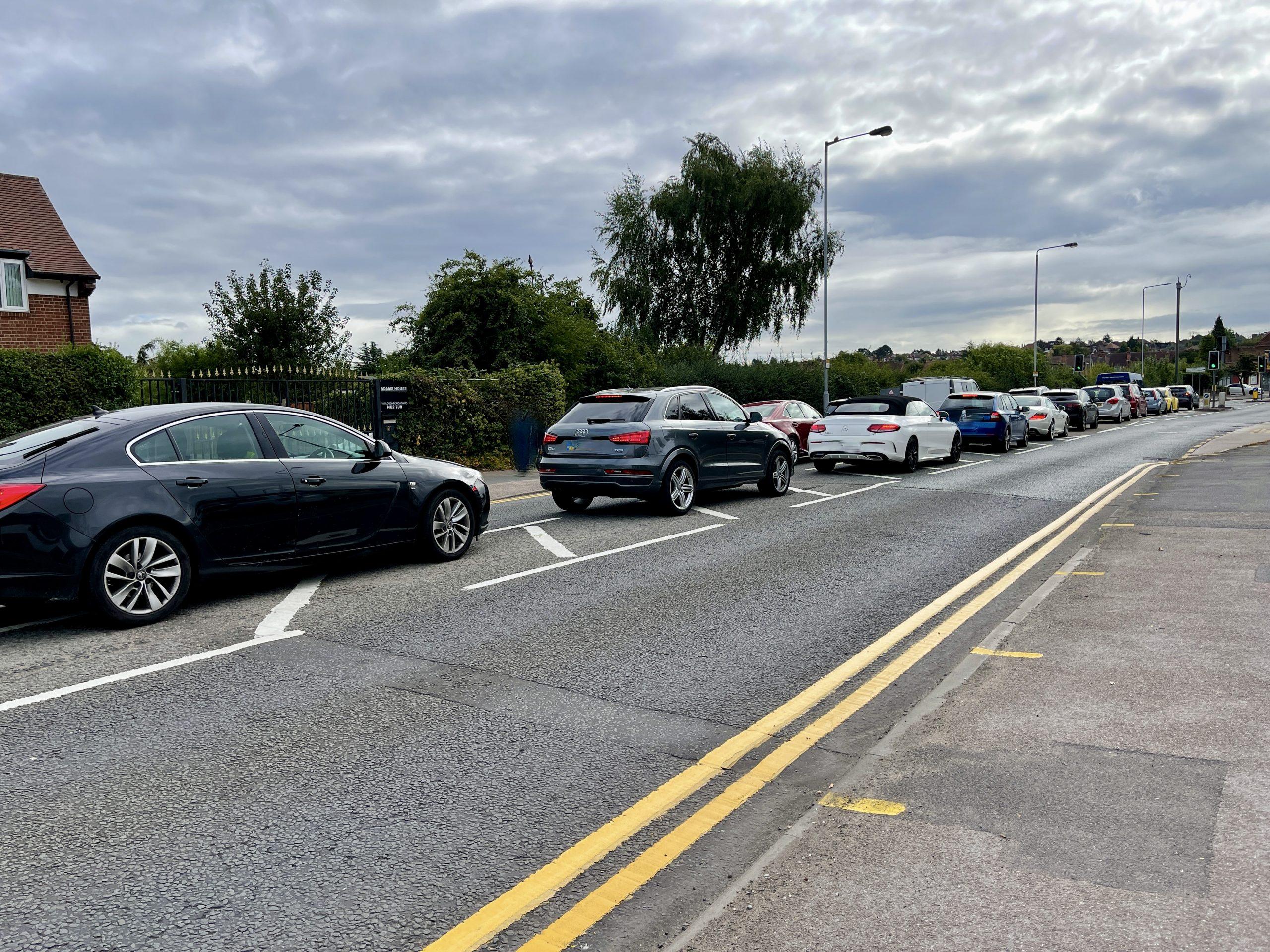 Queues on Loughborough Road West Bridgford for ASDA fuel © westbridgfordwire.com
